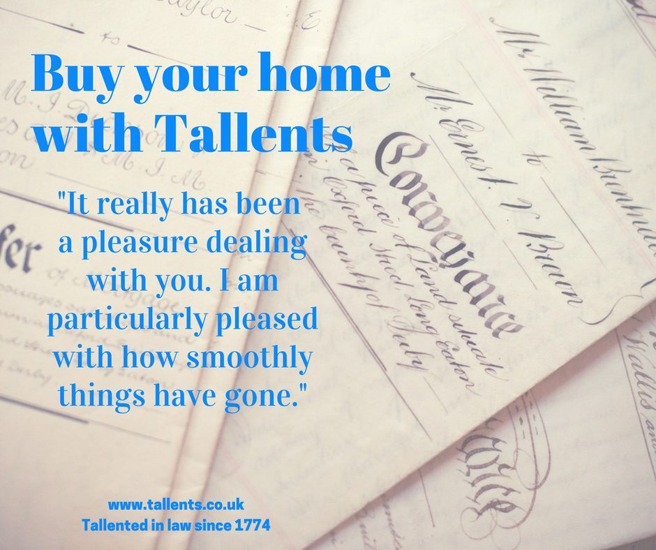 A pleasure dealing with you, said a happy client of Tallents Solicitors in Mansfield