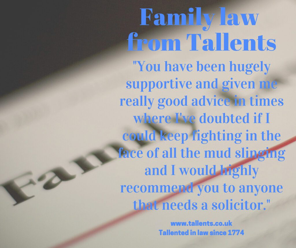 Testimonial for Andrew Stout, Family Lawyer at Tallents Solicitors in Newark