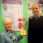 Alistair Millar and June Howsam raising funds for the Newark Hospital Dementia Ward Appeal