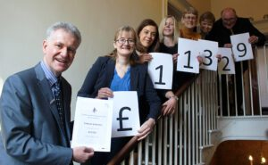 Tallents Solicitors raised £11,329 for Will Aid 2016